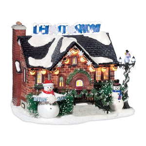 The Snowman House From Dept 56 Snow Village