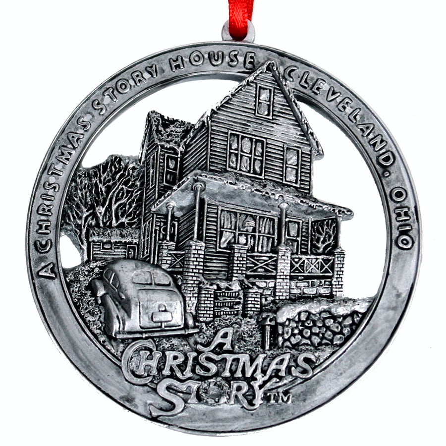 A Christmas Story House Round Ornament