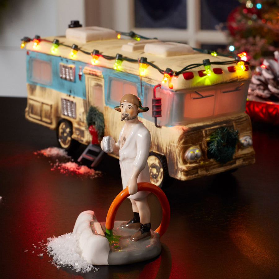 Cousin Eddie In The Morning From Dept 56 Christmas Vacation Snow Village