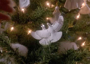 Set of 2 Turtle Dove Ornaments inspired by Home Alone 2