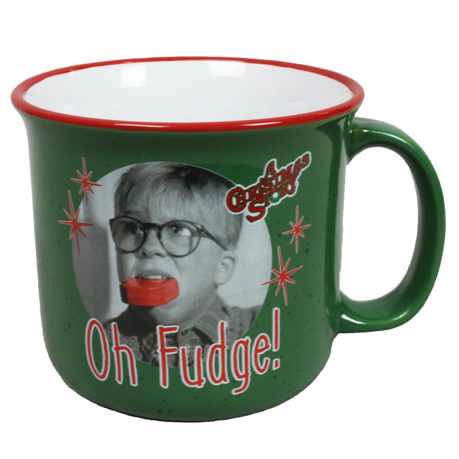 Oh Fudge 14oz Ceramic Camper Mug from A Christmas Story