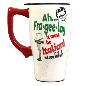 Major Award Ceramic Travel Mug w/Lid From A Christmas Story