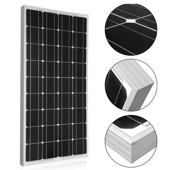 100W 12V Off-grid Monocrystalline Solar Kit with 20A PWM Charge Controller