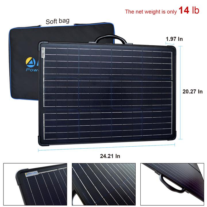 ACOPOWER PLK 120W Portable Solar Panel Kit Lightweight Briefcase