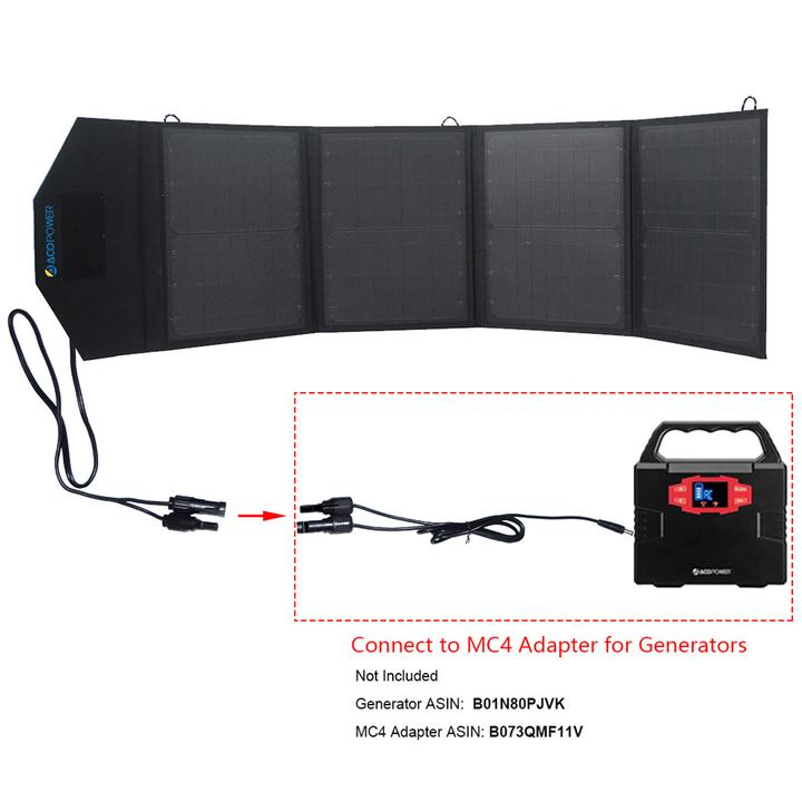 ACOPOWER LTK 50W Foldable Solar Panel Kit Suitcase