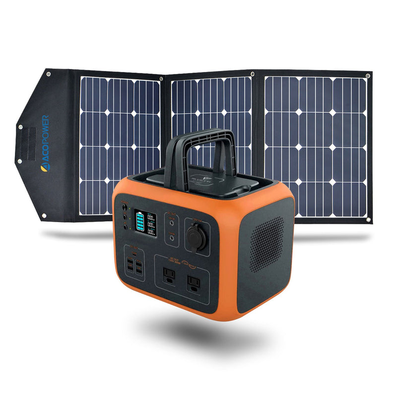 ACOPOWER 500WH Generator and 120W Portable Solar Panel