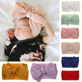10 Colors Adjustable Big Bow Baby Headband Top Knot Headbands Over Sized Baby Girl Bow Newborn Head Band