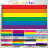 Large Pride Flags | LQBTQ | Rainbow | Bisexual | Pansexual | Transgender Banners