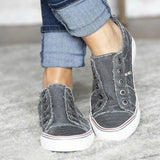Women Comfort Canvas Sneakers Daily Slip-on Flat Shoes