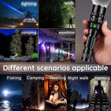 2019 New Outdoor Use High Light Mulfuntion Flashlight XM-L L2 LED Torch Phone USB Charging 18650 Battery 6000mAh(Escape necessities)