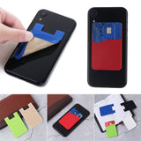 New Universal Fashion Silicone Elastic Card Pocket Wallet Case Phone Card Holder