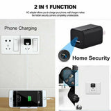 HD 1080P USB Hidden Wall Charger Camera Motion Detection AC Adapter Wifi Video Record Cam US/EU Plug Home Security