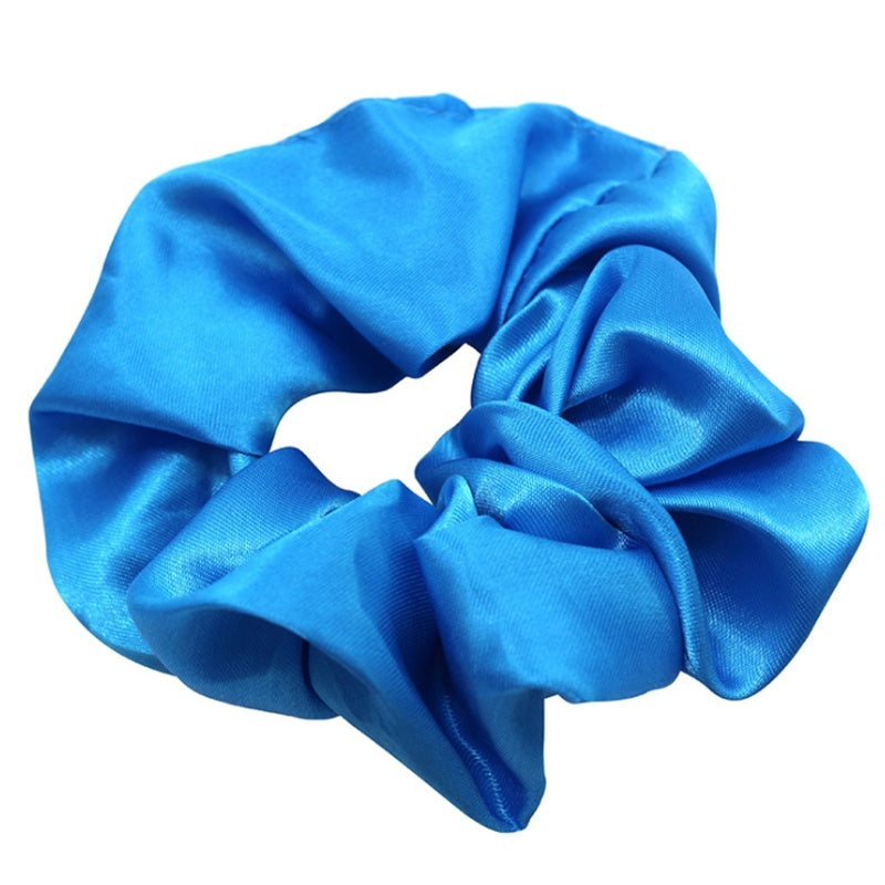 Newest ! Fashion 20/Pack Women Silk Solid Scrunchies Elastic Headbands Satin Hairbands Girls Hair Tie Hair Rope (Random Color)
