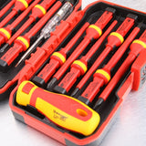 13pcs 1000V Changeable Insulated Screwdrivers Set and Magnetic Slotted Pozidriv Torx Bits Electrician Tools Hand Tools