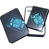 Waterproof Plastic Poker Black Playing Cards Collection Cards Deck Cool Bridge Card Games