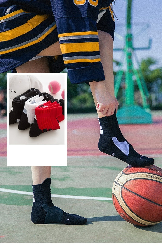2019 Unsex Anti-sweat Thickened Towel Bottom Breathable Socks,DRI-FIT Outdoor Running Socks Sports Socks Basketball Socks