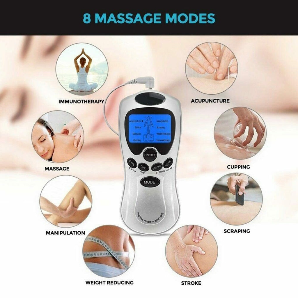 1 Set Digital Therapy Massager Full Body Electric Machine Muscle Train Relax