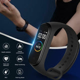 M4 Color Screen Smart Bracelet IP67 Waterproof Smart Wristband Heart Rate Blood Pressure Sleep Monitor Fitness Tracker Smartband Sport Pedometer Step Counter Activity Tracker Smart Watch for Android IOS Phone