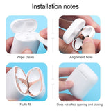 3 Pairs Metal Plating Dust Guard Protection Sticker for AirPods Inner Cover Dustproof Scratchproof Sticker