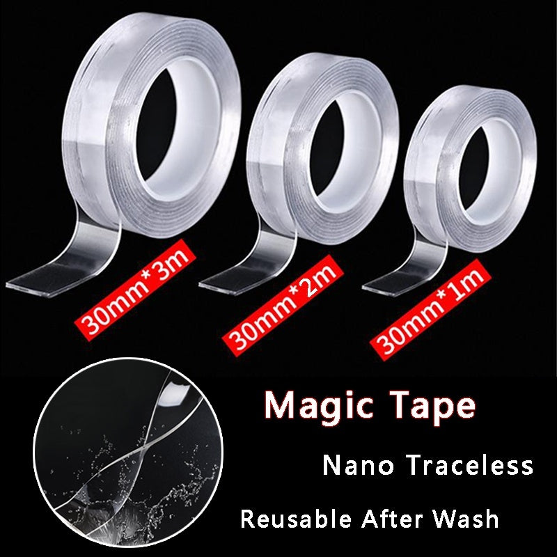 1/2/3m Multi-functional Nano Tape Seamless Transparent Double-sided Adhesive Nano Tapes