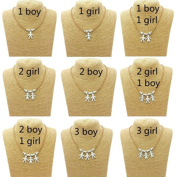 Son Daughter Jewelry Boy Girl Pendant Necklace Sister Brother Anniversary Gift