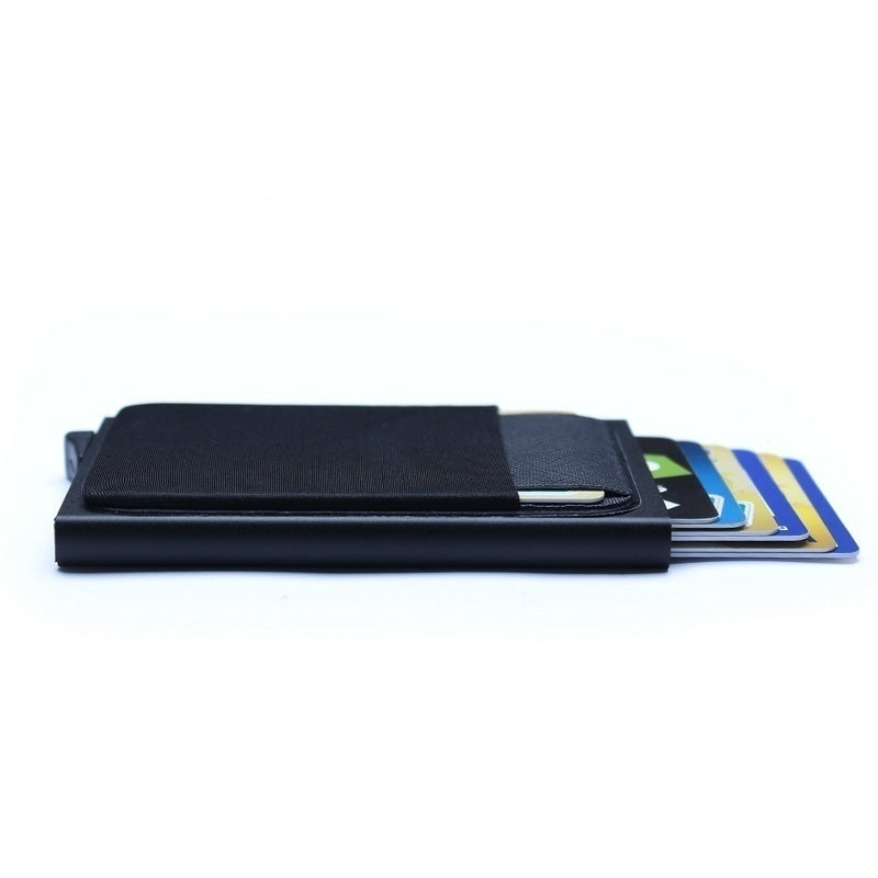 Men Business Aluminum Wallet with Or Without Back Pocket Cash ID Card Holder RFID Blocking Slim Metal Wallet Coin Purse