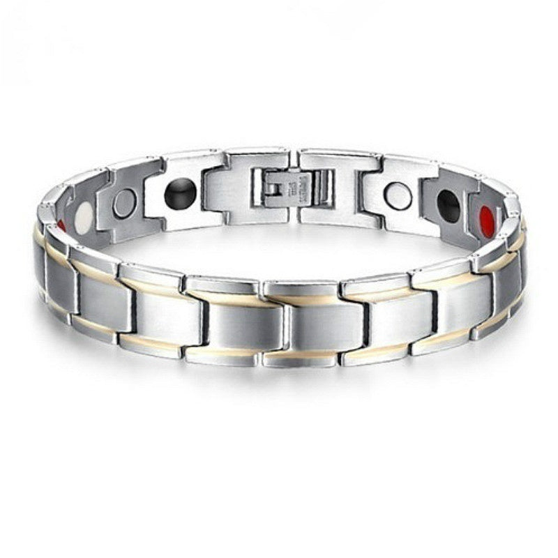 Health Care Weight Loss  Magnetic Therapy Elemental Bracelet Arthritis Pain Relief Health Energy Bio Magnetic Male Gift Adjustable