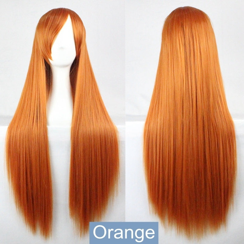NEW 19 Colors 80cm Long Straight Cosplay Wigs Hair Women Full Wig Halloween