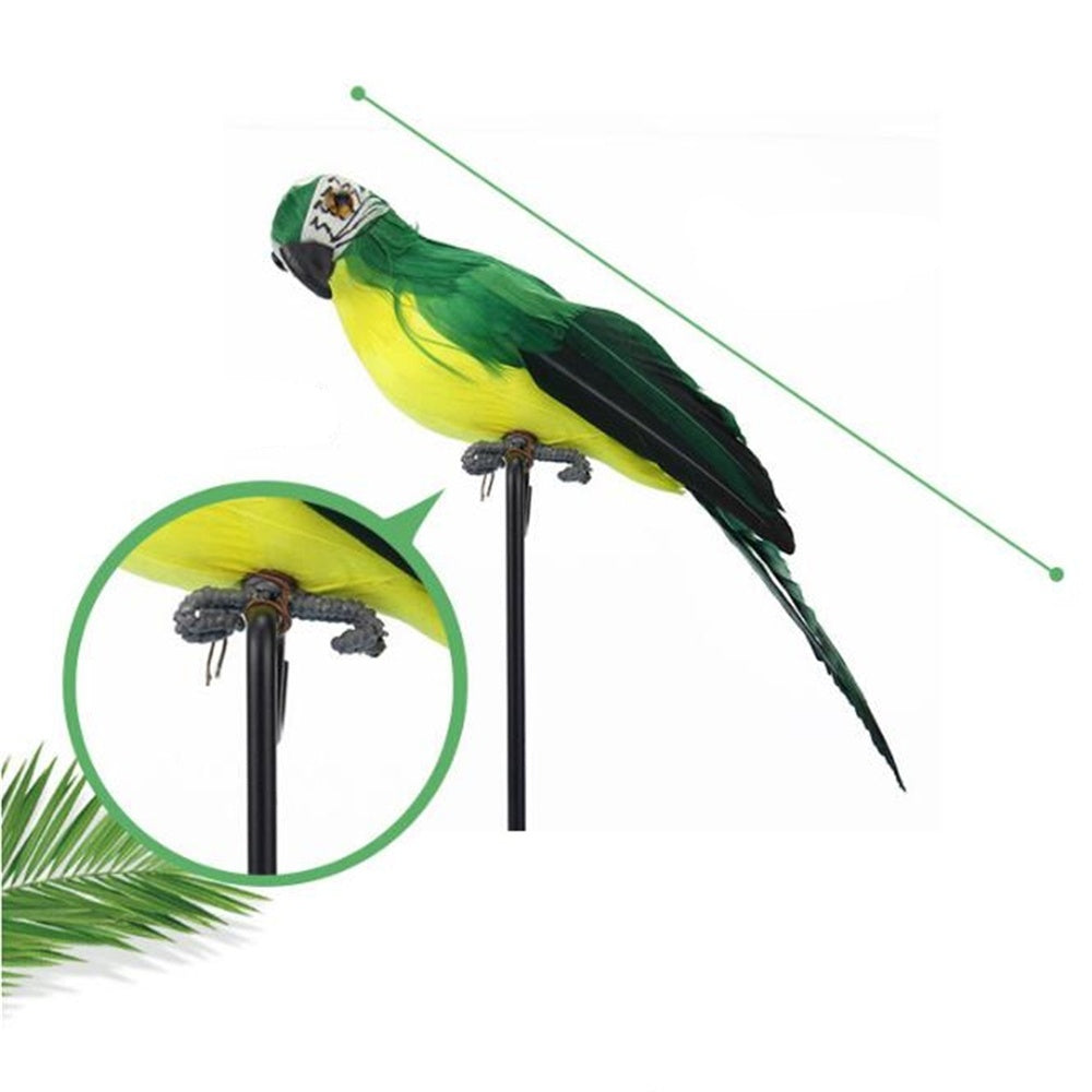 25cm 35cm Artificial Parrots Bird Home Decor Simulation Birds Vividly Parrots Garden 6 Color