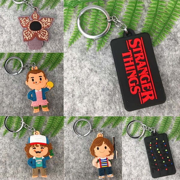 L1462 1 Pcs Stranger Things Silica Gel Pendant Key Holder Keychain For Key Rings Gifts