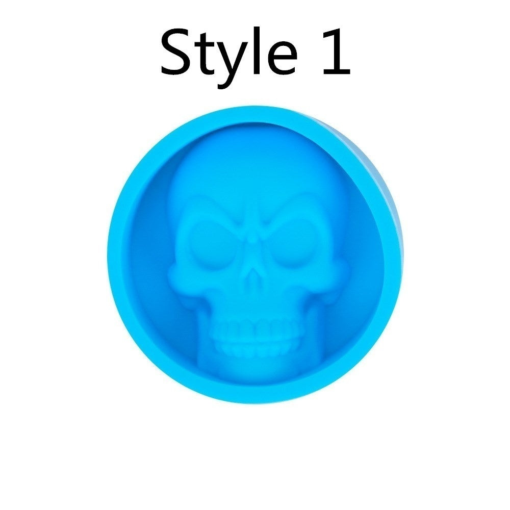 Ice Cube Maker Skull Shape Chocolate Mould Ice Cream DIY Tool Whiskey Wine Cocktail Ice Cube 3D Silicone Mold