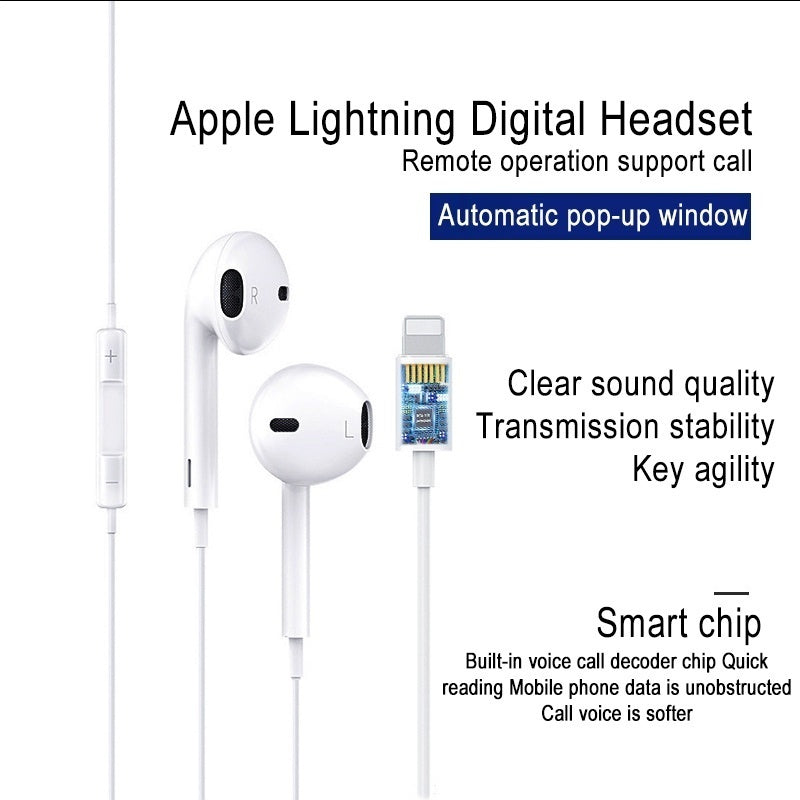 New Upgraded earbuds with automatic pop-up window wired Bluetooth 5.0 headset for Apple iPhone X XR XS Max 8 7 Plus headset with microphone headset