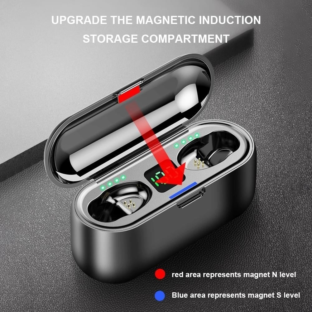Heavy Bass Bluetooth Wireless Earphones Stereo Surround Headset Mini Touch Earbuds Kopfh?rer ¨¦couteurs Auriculares Fones De Ouvido LED Power Display Noise Canceling Headphones with Charging Box