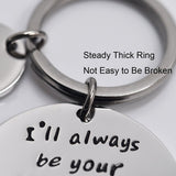 Fathers Day Keychain - Ill Always Be Your Little Girl.You Will Always Be My Hero Keychain Stainless Steel