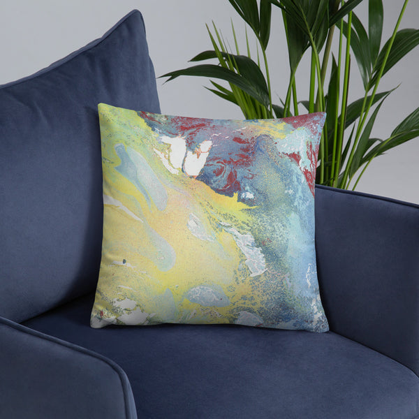 """Yellow Wave"" Pillow"