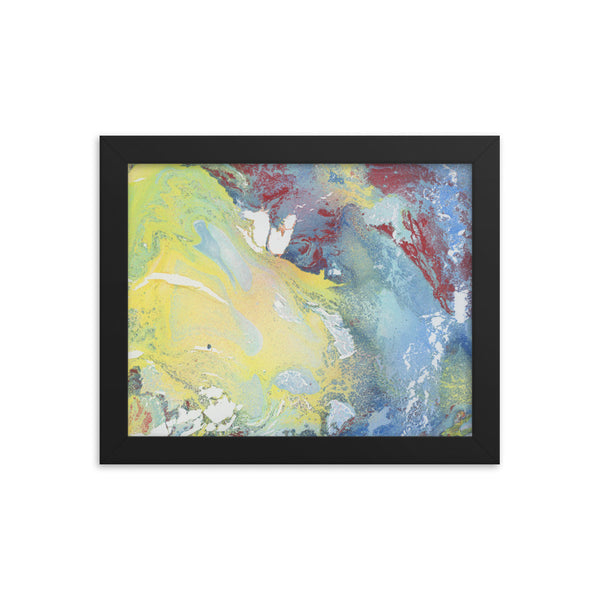 """Yellow Wave"" Framed Print"