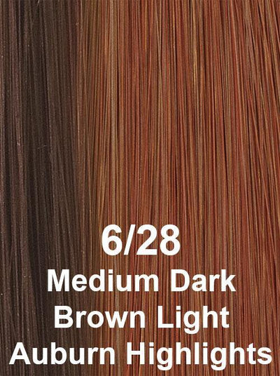 6/28  | Medium Dark Brown Light Auburn Highlights