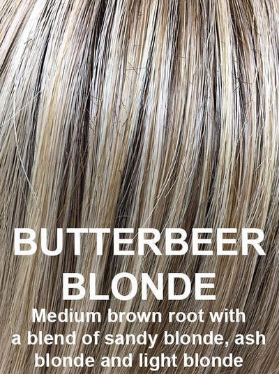 BUTTERBEER BLONDE | Medium brown root with a blend of sandy blonde, ash blonde and light blonde