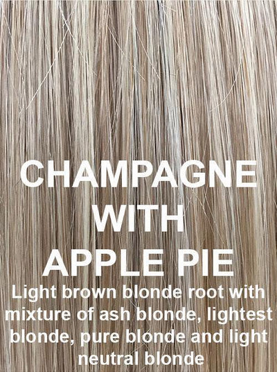 CHAMPAGNE WITH APPLE PIE | Light brown blonde root with mixture of ash blonde, lightest blonde, pure blonde and light neutral blonde