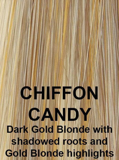 CHIFFON CANDY | Shadowed Roots on Dark Gold Blonde with Light Gold Blonde highlights