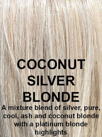 COCONUT SILVER BLONDE | A mixture blend of silver, pure, cool, ash and coconut blonde with a platinum blonde highlights