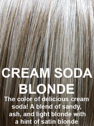 CREAM SODA BLONDE | The color of delicious cream soda! A blend of sandy, ash, and light blonde with a hint of satin blonde