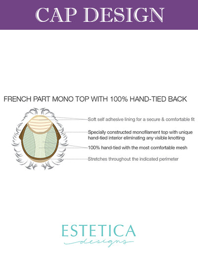 Treasure | REMI Human Hair French Part Monofilament Top with 100% Hand-Tied Back Wig by Estetica