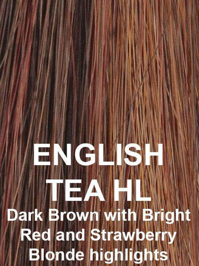ENGLISH TEA HL | Dark Brown with Bright Red and Strawberry highlights
