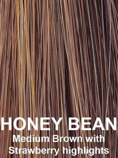 HONEY BEAN | Medium Brown with Strawberry Blonde highlights