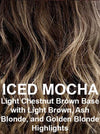 ICED MOCHA | Light Chestnut Brown Base with Light Brown, Ash Blonde, and Golden Blonde Highlights