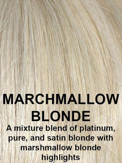 MARSHMALLOW BLONDE | A mixture blend of platinum, pure, and satin blonde with marshmallow blonde highlights