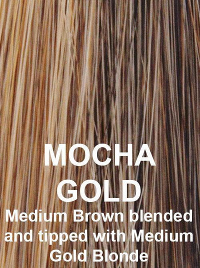 MOCHA GOLD | Medium Brown blended and tipped with Medium Gold Blonde