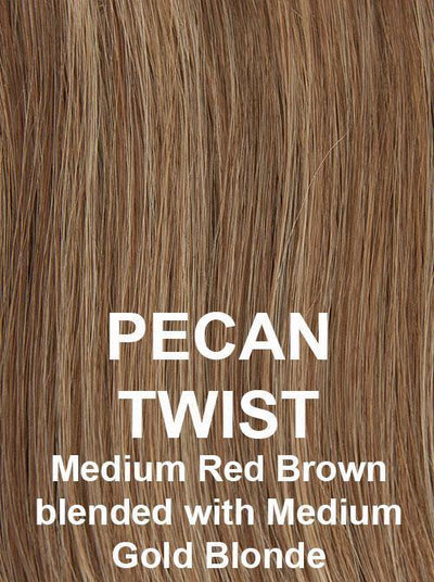 PECAN TWIST | Medium Red Brown blended with Medium Gold Blonde