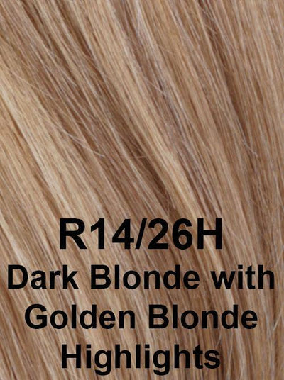 R14/26H | Dark Blonde with Golden Blonde Highlights